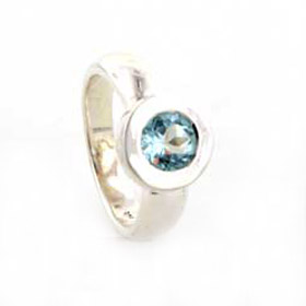Blue Topaz Ring Kandinsky