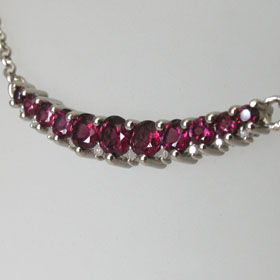 Garnet and Diamond Necklace Celestine