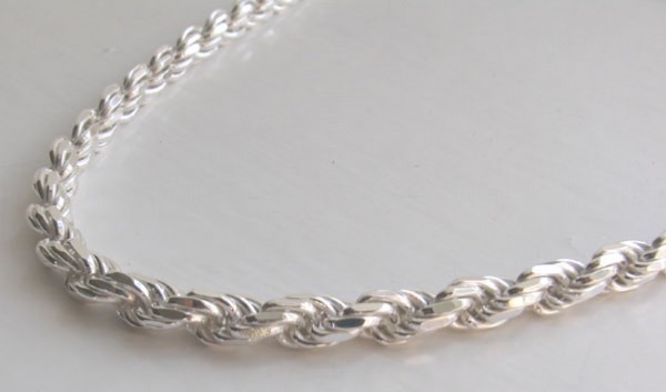 Silver Rope Chain Necklaces - Italian - Boothandbooth.co.uk