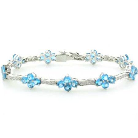 Blue Topaz bracelet. Sterling silver bracelet