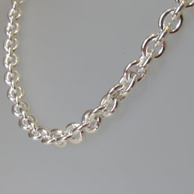 Sterling Silver Anchor Chain - 7.5mm