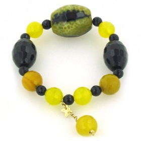 Black Onyx and Agate Bracelet Candy
