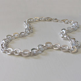 Sterling Silver Anchor Chain - 9mm