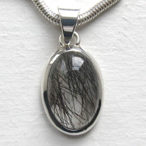 Black Rutilated Quartz Pendants - Booth and Booth