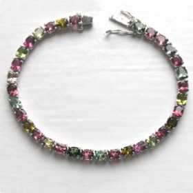 Multi-Coloured Tourmaline Bracelet Erika
