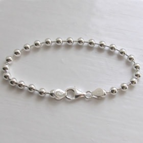 Sterling Silver Ball Bracelet - 5mm