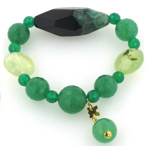 Green Agate, Aventurine and Prehenite Bracelet Candice