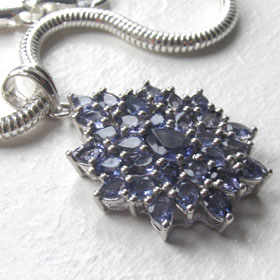 Iolite and Sterling Silver Pendant Tilda