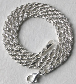 Solid Silver Rope Necklaces - Boothandbooth.co.uk