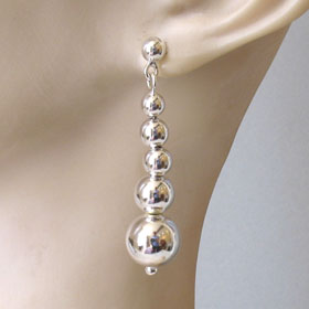 Sterling Silver Ball Drop Earrings Layla