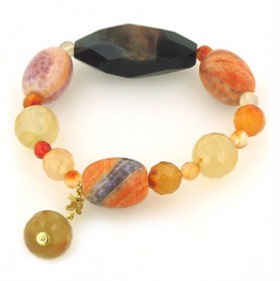 Carnelian and Agate Bracelet Candy