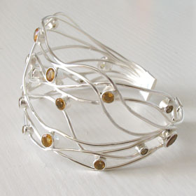 Sterling Silver Citrine Cuff Giselle