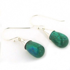 Chrysocolla Earrings - Booth and Booth