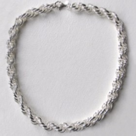 Sterling Silver Links Necklace- Width 11mm