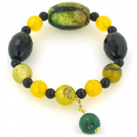 Black Onyx and Agate Bracelet Candice