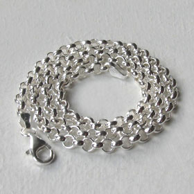 Sterling Silver Belcher Chain - 4mm