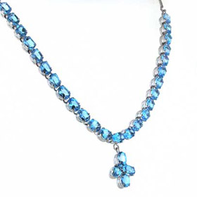 Swiss Blue Topaz Necklace Edana