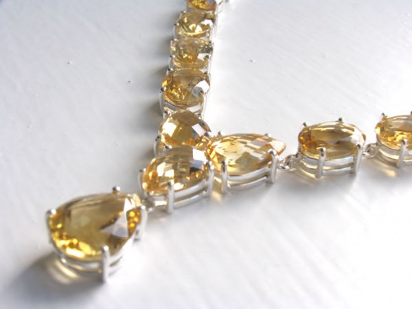 Citrine Necklace - Citrine Jewellery